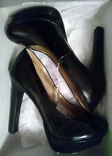Mossimo Paisley Black Patent Platforms Stilettos Heels Women's Size 9