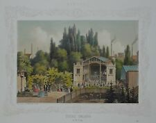 Hamburg - Tivoli Theater in St. Georg - Heuer -Originale Lithografie 1860