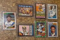 (7) Eric Dickerson 1984 1985 1986 1987 Topps Rookie + Card Lot RC HOF Rams Colts