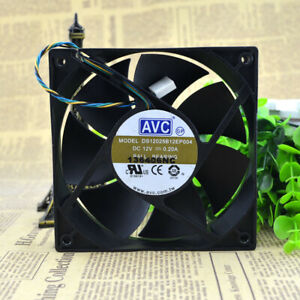 AVC DS05020R12M 12V 0.20A 5CM 5020 4-wire magnetic suspension bearing CPU fan