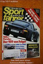 Sportfahrer 10/86 Ford Mustang TransAm Porsche 959