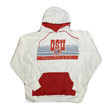 Vintage 1980s Unbranded Ohio State University Buckeyes Hoodie Sweatshirt Size M