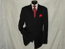 D-700 HUGO BOSS men's 3 button center vent solid Blue suit jacket coat 42 L