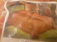 New listing Vintage 70s Bates Full Size Spanish Orange Bedspread New
