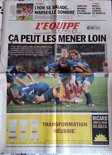 L'Equipe Journal 6/11/2005; Rugby; France-Australie 26-16/ Lyon se balade, l'OM