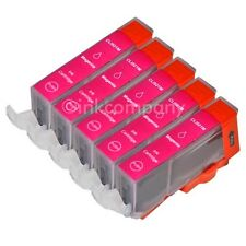 5 CANON Druckerpatronen mit Chip CLI-521 magenta IP 3600 IP 4600 IP 4700 NEU