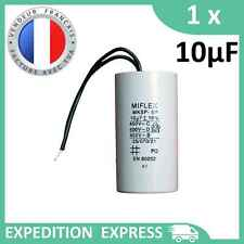 Condensateur moteur 10µF 10uF 450V à fils MKSP-5P démarrage/permanent