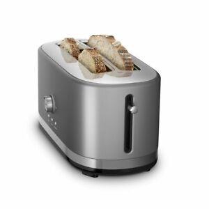 KitchenAid Long 4-Slice Toaster | Contour Silver