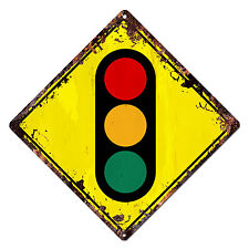 DS-0004 TRAFFIC SIGNALS Diamond Sign Rustic Chic Sign Bar Shop Home Decor Gift