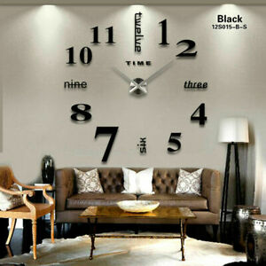 3D Large Wall Clock Mirror Wall Stickers DIY Clock Modern Design Horloge Murale