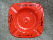 VINTAGE 1960s OSU OKLAHOMA STATE UNIVERSITY FOOD SERVICE COCA-COLA ASHTRAY