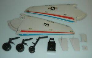 1983 GI Joe Skystriker Jet Accessory Lot Part Piece Wing Seat Landing Gear Cover