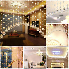 String Curtain Room Divider Crystal Beads Door Window Panel Wedding Home Modern