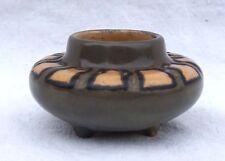 HB QUIMPER ODETTA French Art Deco Enamel Stoneware Small Vase 1925