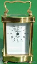 L'EPEE VINTAGE FRENCH DOUCINE SERPENTINE TIMEPIECE 8 DAY CARRIAGE CLOCK SERVICED