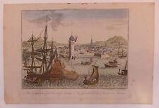 vue d'optique Cuba La Havane vue view Amérique XVIIIème siècle