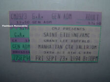 SAINT ETIENNE / AMC Concert Ticket Stub 1994 MANHATTAN NY Grant Lee Buffalo RARE