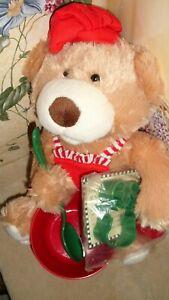 Santa Bear AVON 2013 Plush Teddy Story Book Recipe Cookie Cutter GINGERBREAD