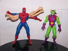 Spiderman : Marvel Toybiz Figure Lot : 1994 Green Goblin and Six Arm