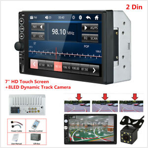 "7"" 2DIN HD Touch Screen Car Stereo Radio MP5 Player Bluetooth USB TF AUX +Camera"