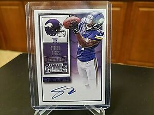 2015 Contenders Rookie Ticket Stefon Diggs Auto Autograph RC Vikings Bills