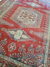 6 x 9 FINE VEG DYE INDO CAUCASIAN VINTAGE SERAPI KAZAK HERIZ TURKISH OUSHAK
