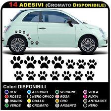 14 zampette adesive ADESIVI PER AUTO MOTO CASCHI - DISPONIBILI IN TUTTI I COLORI