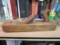 "antique Wood SANDUSKY TOOL CO 16"" wood block PLANE WOODEN primitive USA"