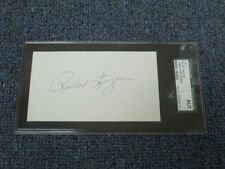 Rollie Fingers Autographed Index Card JSA Authenticated Encapsulated