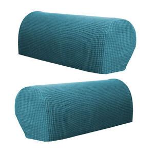 2PCS Premium Furniture Armrest Covers Stretchy Sofa Couch Chair Arm Protectors