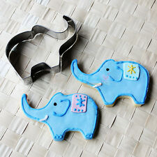 Elephant Shape Biscuit Cookie Fondant Mold Cake Press Cutter Baking Decor Tool