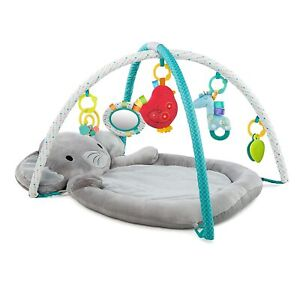 Enchanted Elephants Activity Gym with Ultra-Plush Soft Mat, Ages Newborn +