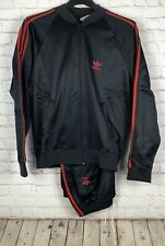Vintage Adidas ATP Keyrolan Tracksuit Jacket Pants Set Black 3 Stripes Trefoil L