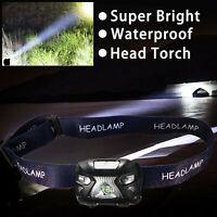 Lampe frontale rechargeable USB lampe  poche phare bandeau lampe étanche aux USA