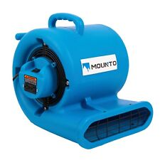 MOUNTO 1/3hp 2000cfm Commercial Air Mover Carpet dryer with GFCI Dual Outlet