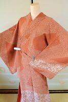 Kimono Komon Silk Women Japanese vintage Geisha Costume Robe Cosplay /446