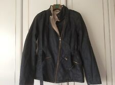 M & S Indigo Wax Style Shearling Lined Jacket - Size 12 - BNWT RRP £79