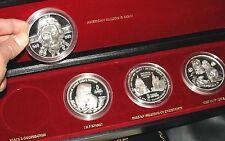 RARE RUSSIAN SILVER COINS MEDALS 20 OZ PURE SILVER + BOX & RUSSIA CERTIFICATES