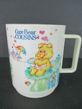 Vintage CARE BEARS Cousins DEKA Plastic Cup Mug American Greetings 1985