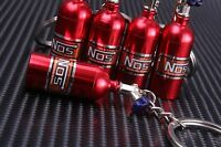 NOS Bottle Tank Nitrous Oxide Keyring Keyfob Keychain Metal Turbo Mini Pill Red
