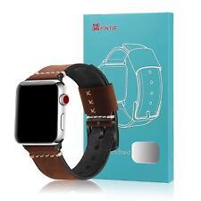 Für Apple Watch 44mm Series 4 Armband Lederarmband UhrBand Echtes Ersatz Band