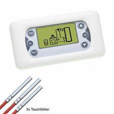 Heizungssteuerung 2 Zonen Temperatur - Differenzregler für Holzkessel, Kamine