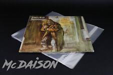 McDAISON 100 pz BUSTE DISCHI LP 33 giri protettive lucide con CHIUSURA ADESIVA