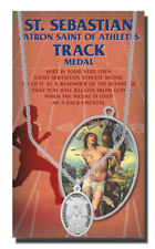 St. Sebastian Track Medal necklace, plus a Free Prayer Card