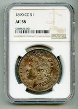 1890 CC Morgan Silver Dollar NGC AU 58