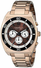 Bulova Gold Oro Steel Crystal Reloj Hombre Man Watch Bracelet Pulsera Hand Arm