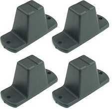 4 x Plastikfuß 85x33x43 mm Kunststofffuß Geräte-Gehäuse-Füße Geräte-Gehäuse-Fuß