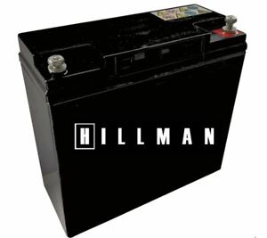 Hillman Electric Golf Trolley Battery 12v 22ah 18 Holes Free Carry Bag Slimline