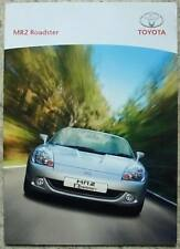 TOYOTA MR2 ROADSTER Car Sales Brochure Aug 2004 #GBNGV-084MR-V8