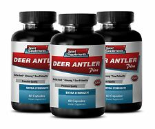 Saw Palmetto Liquid - Deer Antler Plus 550mg - Boost Sexual Vigor Pills 3B